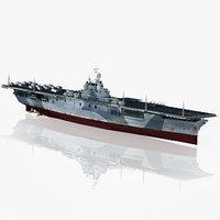 3D uss essex cv-9 1944-1945 model