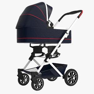 3D mercedes baby stroller