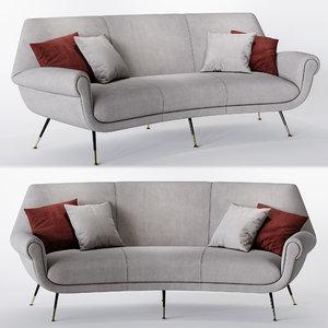 minotti albert angled sofa model