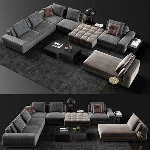 3D model minotti lawrence set