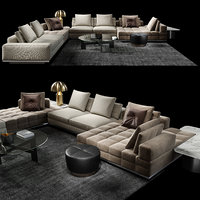 minotti set lawrence clan 3D