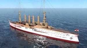 german battleship scharnhorst ships 3D model
