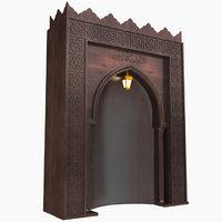 mosque altar 3D model