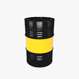metal barrel 3D model