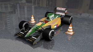 3D f1 107 race car