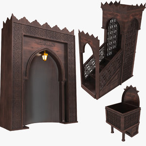 3D mosque altar model