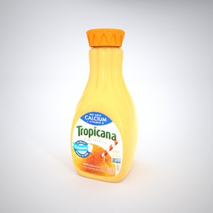 orange juice bottle 3D model
