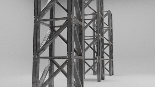 scaffolding warehouses structure model
