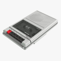 3D cassette player recorder