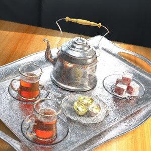 chinese tea pot 3D