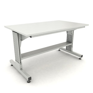 3D model adjustable working table