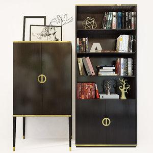 shelving fererro bookcase cabinet 3D model
