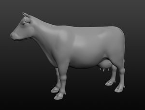 3D cow base mesh