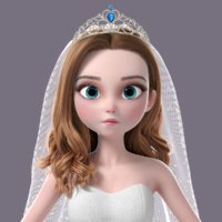 cartoon bride norig model