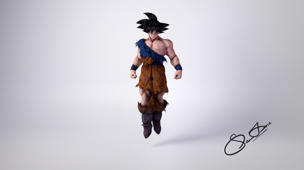 character goku 3D model