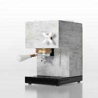3D anza concrete espresso machines model