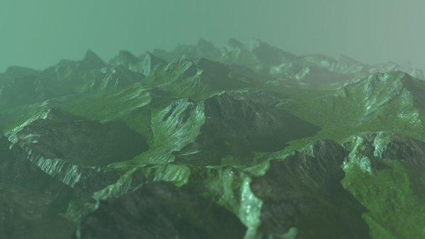 3D rock terrain
