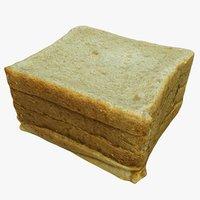 3D model toast food bread