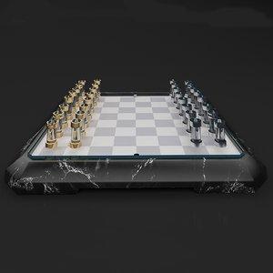 3D teckell checkerboard stratego board model