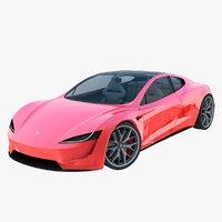2020 tesla roadster 3D model