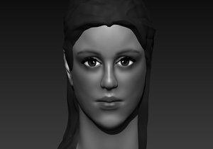 mujer rostro femenino 3D model