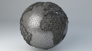 - sci-fi shapes earth 3D model