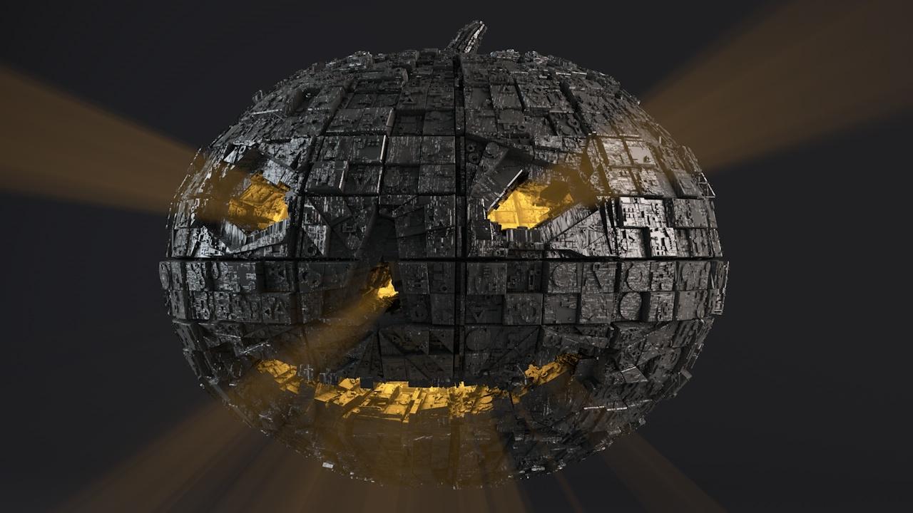 - sci-fi shapes halloween 3D model