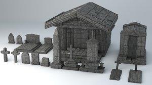 - sci-fi shapes necropolis 3D model