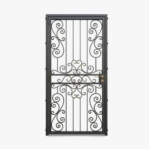 wrought iron gate 05 3D