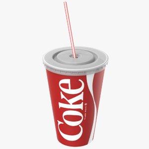 3D model paper soda cup