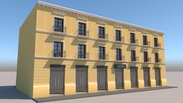 3D mexican hotel model