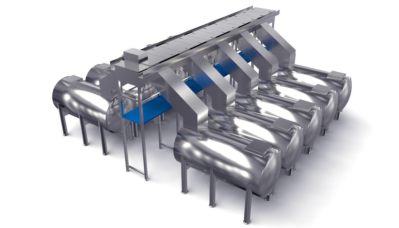 Oxidation Fermentation Unit 3D model