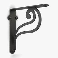 3D iron shelf bracket