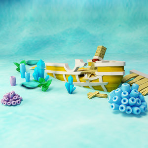 3D ship water