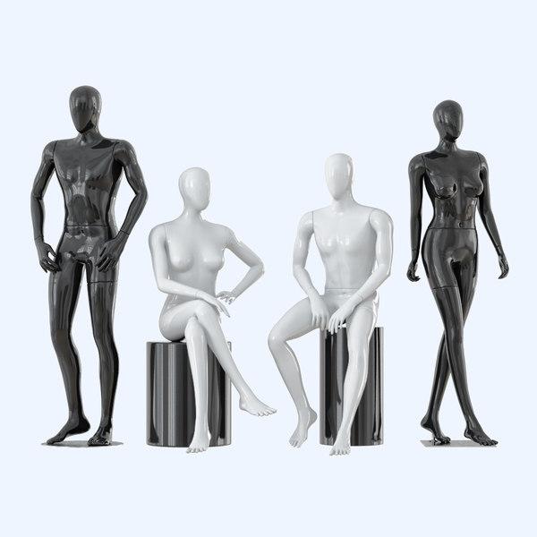 faceless mannequins male female model