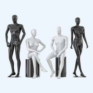 faceless mannequins male female model