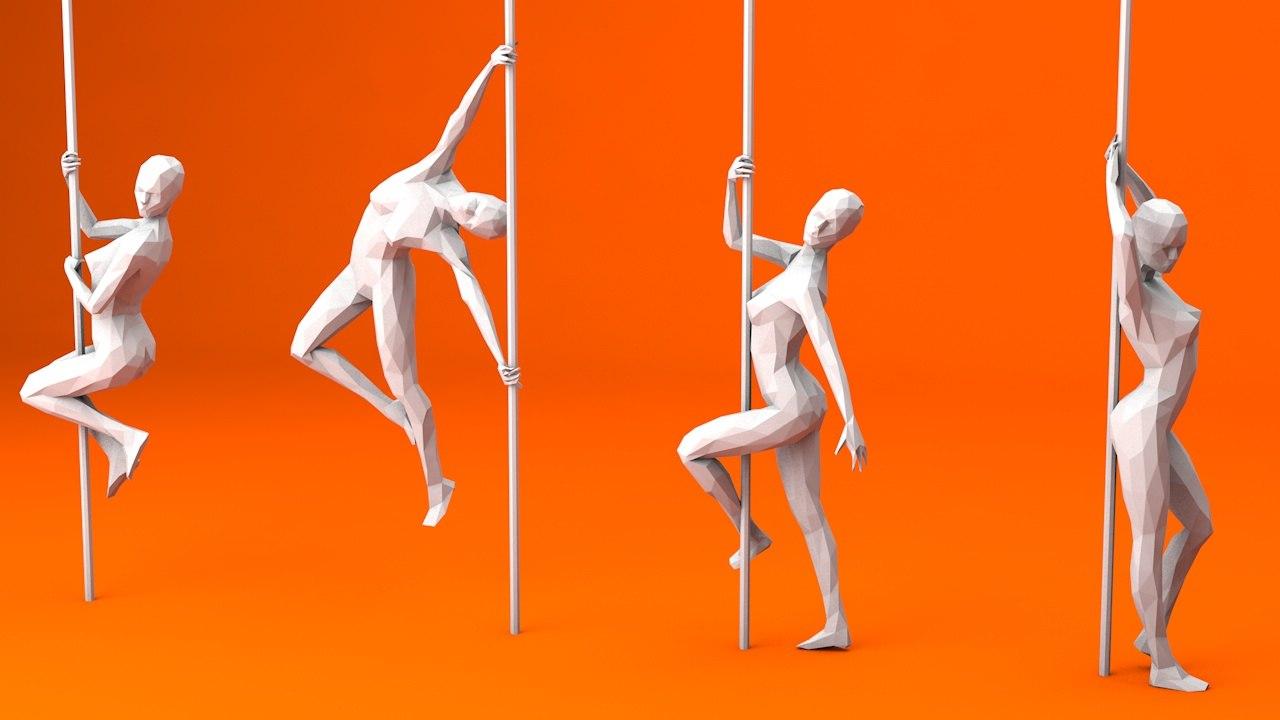 6 pole dancer 1 model