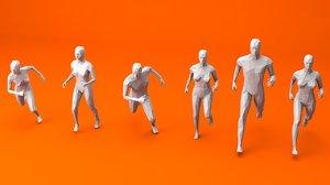 6 static women 3D model