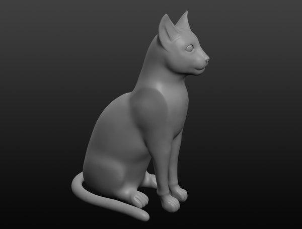 ancient egyptian cat 3D model