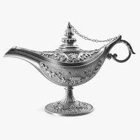 Magic Lamp Silver 3D Model