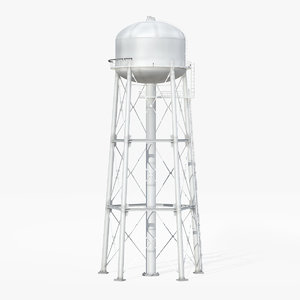 water storage tower 3D