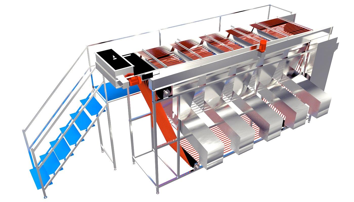 Rope Sizer Grader 3D model