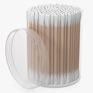 hygienic cotton swabs 3D model