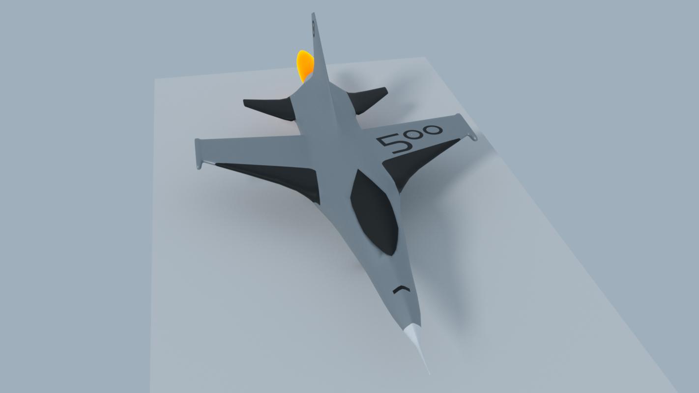 3D jet airplane plane