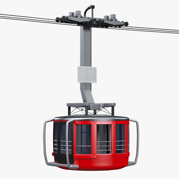 3D mountain cableway car