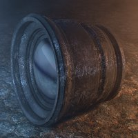 concepts vintage prime camera lens 3D model