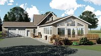 Country Ranch House with Deck and Garage