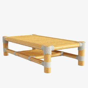 bamboo table design 3D model