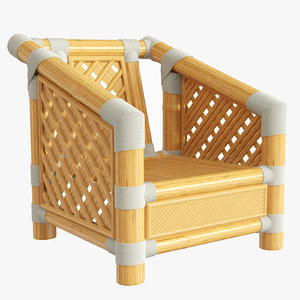 3D model bamboo chair