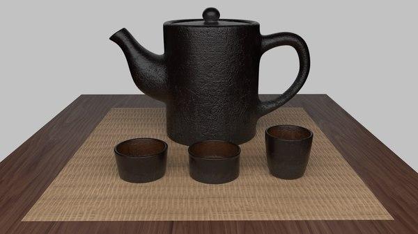 scene tea 3D model